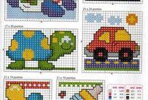 Dziecięcy świat - cross stitch Children's World / wszystko co dotyczy dzieciaczków - zabawki, pojazdy