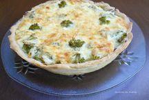 Quiche de abobrinha, brócolis e queijo branco