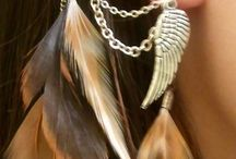 jewelery and feathers