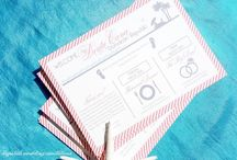 Welcome Itinerary Wedding Cards / Handcrafted welcome/itinerary wedding cards
