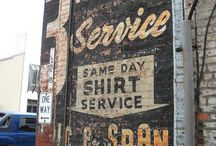 Wall signs / Ghost Advertising / by Kathy Pillow