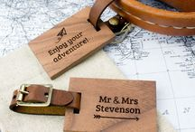 Personalised Wood Luggage Tags / Travel in style with our personalised wood luggage tags. Add your details or a message for a loved one - they make great travel gifts. All of our materials are ethically sourced and products are made in our little workshop in The New Forest, UK.