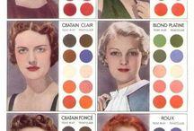 moodboard 1930 talls makeup.