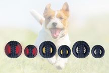 X-Tire Balls for Fetch and Fun - Dog toys / Our Best-selling X-Tire Balls™ Are Better Than Ever!  Tougher. More Sounds and Lights. Higher Quality Electronics  X-Tire Balls are a pair of small tires ruggedly molded as a single ball with a hollow center. They're easy for dogs to retrieve; they have a fun rolling action. They're molded from Flexi PVC so they're durable, smooth, safe and fun! Comes in 2 sizes and 5 varieties.