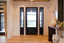Entry Design / Farmhouse Entry. Style and decor. Interior facade.