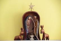 """Kerststallen - Nativity / Vanaf de """"boodschap aan Maria"""" tot en met de """"vlucht naar Egypte"""" / by Marleen Jaspers"""