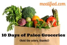 Paleo Meal Plans & Recipe Round Ups / All of these pins link back to posts that either provide Paleo meal plans or are a collection of recipes related to a specific topic.
