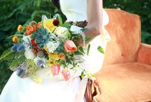 Wedding: Retro Romance / Tangerine, Lemon and Cobalt