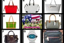 It's Fashion Friday at OneCentChic / Designer Bags and a Marc Jacobs watch up for auction at 10 PM ET
