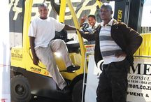 Forklift Driving / In this course learners can lean how to drive and work with a Forklift at the Shoshanguve Campus