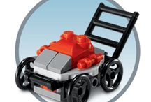 Toy making lawnmower