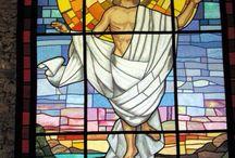 Gesù / Vetrata di stoffa nella Chiesa di Marina di Campo