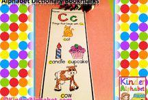Alphabet Book Marks