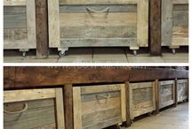 DIY Pallets recycled reclaimed wood furniture / Furniture made of recycled, reclaimed wood, pallets.  Also DIY furniture. And some clever ideas for various wood looks.