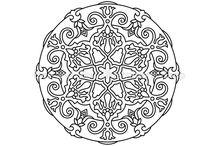 """Mandala """"tatoo"""" scarves"""