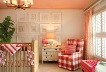 Coral & Navy sitting room