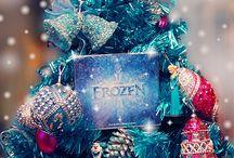 Christmas Decor голубой и розовый