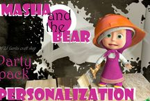 Party Theme: Masha & the Bear / 1st Birthday party ideas / by Karen Brown New York