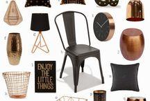Color schemes  - black, white and copper