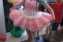 Платья из шаров