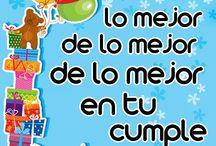 Cumpleaños / Lindas tarjetitas de cumpleaños, para saludar a tus seres queridos!