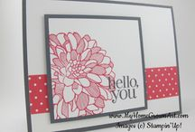 SU Regarding Dahlias / Cards made with the Stampin' Up! stamp set Regarding Dahlias / by Jessica Taylor