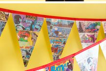Superhero Party / Ideas for a kids' Superhero themed birthday party- Batman, Superman, Avengers, etc.