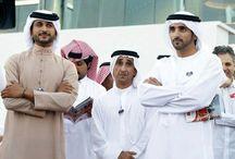 Saeed MJM con sobrinos 1 / Saeed bin Maktoum bin Juma Al Maktoum con su sobrino, Hamdan bin Mohammed bin Rashid Al Maktoum