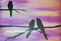 Acrylic paintings of Birds and feathers / Paintings of all of our feathered friends.