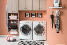Laundry / A well organized space makes washing, drying, and ironing more enjoyable, and stylish cabinets leave the room looking clean as a whistle when you're done.