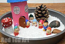 ¨pohádkové tvoření - sněhurka/fairy tales crafts - snow white
