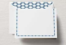 Lovely Linings / Notes & cards paired with bright new patterned envelope linings.