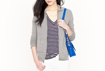 jcrew blue and white striped hoodie