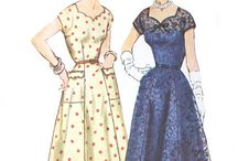 Lovely Vintage Dress Patterns / If I had a 22 inch waist, I could use some of these patterns. Otherwise, it's a great inspiration board! / by City Wife, Country Life