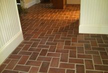 Brick Floors: Brick Flooring Design Ideas / Brick Floors: Real Thin Brick shares a collection of brick flooring pictures for the purpose of helping our customers of our thin brick product design their own brick flooring projects.  #brick #brickfloors #thinbricktile #thinbrick #realthinbrick #brickveneer #pavers #floors #flooring