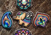 Bead brooches & pendants