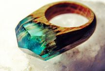 wooden resin ring