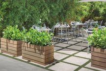 Planters in Commercial Applications - Crescent Garden.