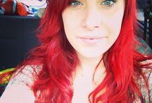 Hair Red Hair / Red Hair Bright Vermillion NoExtensions Long