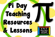 teaching: pi day is march 14 / The Pi Day resources I found didn't feature images on the page that I could pin, so I gathered them on the theme page I've pinned below.  Have fun! / by A to Z Teacher Stuff