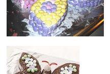 Mathea`s 1årsdag / Ideer til pyting av kaker.