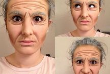 Cos-Old age makeup