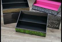 Cardboard Table Display Stands / Cardboard Table Display Stands | Tiered Display Shelves | Corrugated Cardboard Vendor Displays | Craft Shows | Vendor Events