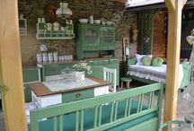 venkovní posezení, terasa, kuchyň