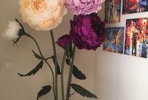 Цветы из гофр.бумаги