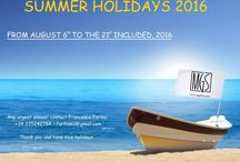 """Summer holiday 2016 / """"#summerholiday 2016: MGS will be close from 6/08 to the 21/08 included. Any urgent answer contact Francesco Farina +39 335242784 or farfran1@gmail.com"""""""