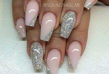Fancy nail design coffin shape