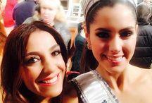 Miss Universe 2015 / 56 años que pasaron volando!! Luz Marina Zuluaga en 1958 y ahora @paulinavegadiep en 2015!! #orgullo #COLOMBIA #belleza