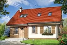 Projekty domów z dachem dwuspadowym / Dach dwuspadowy w domu to najczęściej wybierana forma zadaszenia przez budujących – przede wszystkim z uwagi na prostotę konstrukcji , łatwość budowy takiego dachu ,  oszczędność kosztów , ale też oszczędność wyrazu bryły budynku . Dom przekryty dachem dwuspadowym , niezależnie od tego , czy jest ona parterowy , z poddaszem , czy piętrowy , ma prostą  , klarowną konstrukcję . / by MG Projekt | Projekty Domów