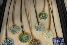 clay buttons and pendants